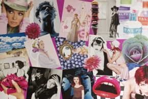 Modecollage in pink
