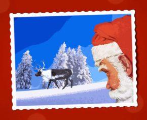 Weihnachtsmotiv auf Postkarte